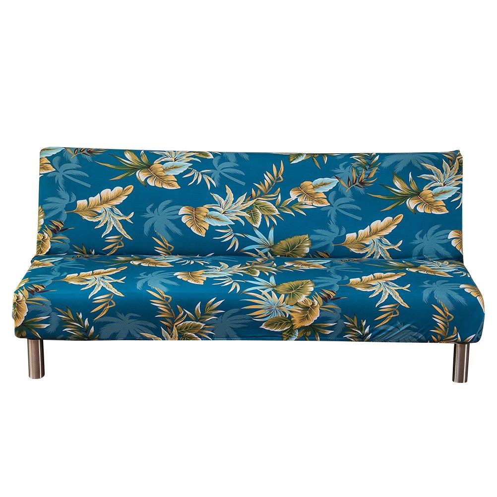 WINOMO Fodera per divano senza braccioli Fodera per divano a soffietto Stretch Copridivano per divano a 4 posti Coprisedile per divano a 4 posti 235-310 cm