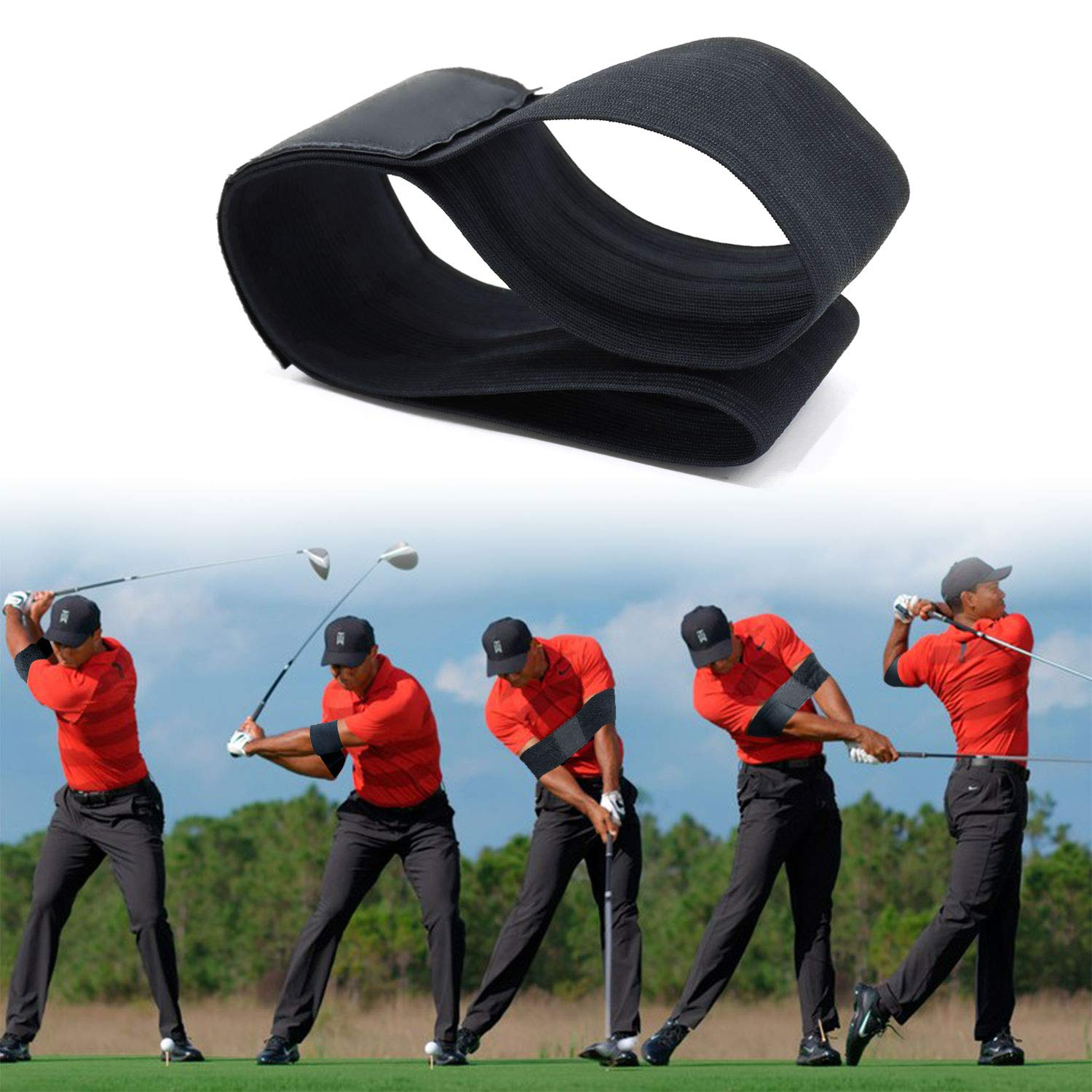 Prowithlin Golf Training Aids Golf Smooth Swing Training Aid Arm Band Golf Beginners Training Arm Band