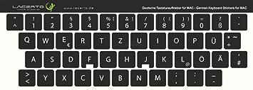 Pegatinas de teclado alemán de Lacerto para teclados de PC y portátil, diversos tamaños,