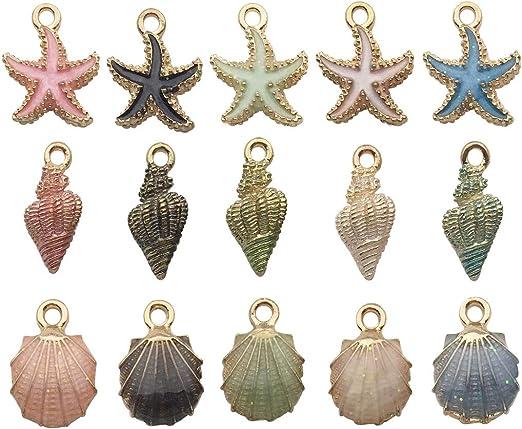 Free ship 5//30Pcs Tibetan Silver Moon Star Charms lobster Clasp Dangle Pendant