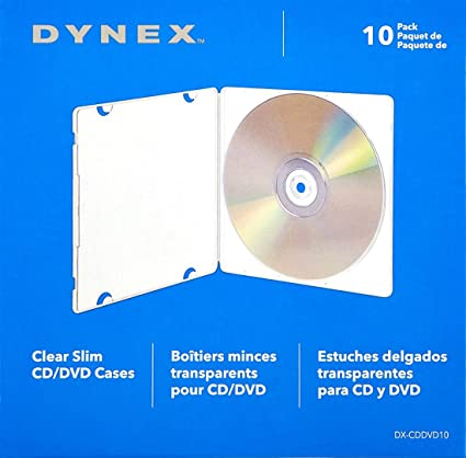 Amazon.com: Dynex Clear Slim CD/DVD Cases 10 Pack: Home ...
