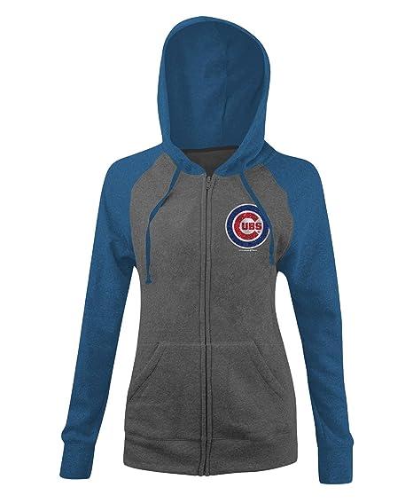 best website 24b52 5affd New Era Chicago Cubs Women's MLB Double Tri-Blend Hooded Sweatshirt