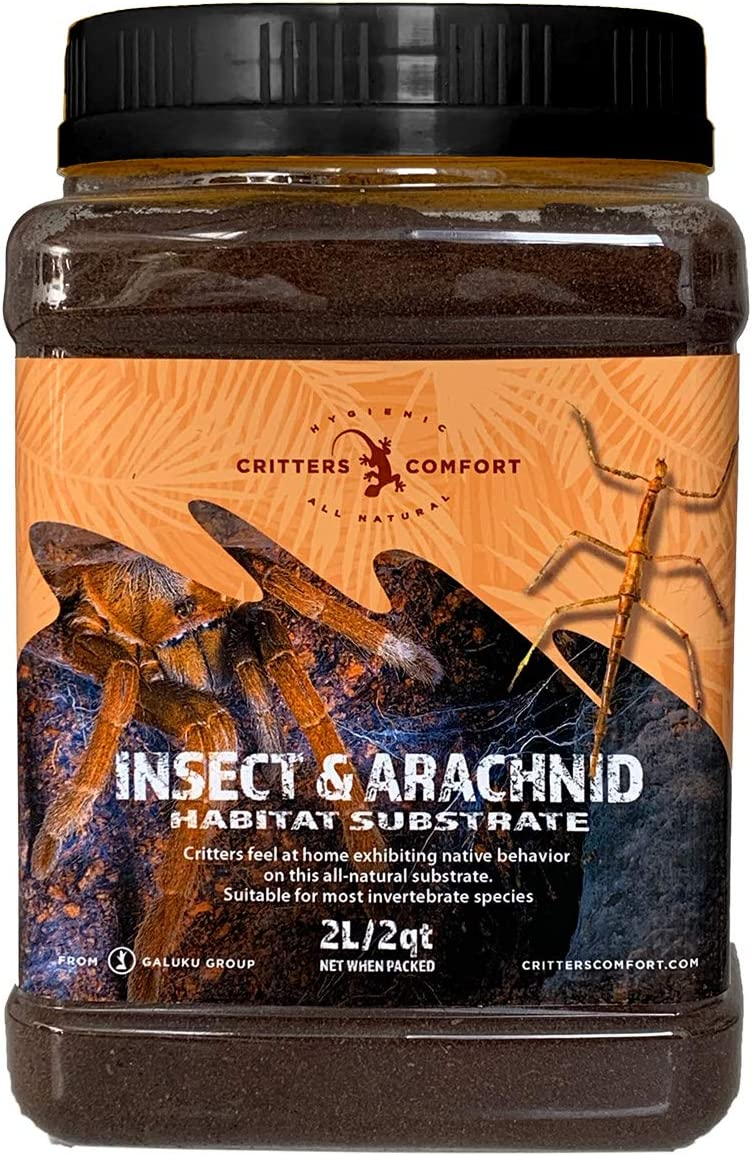 Critters Comfort Insect & Arachnid Habitat Substrate Natural Coconut Fiber 2qt/2L Jar