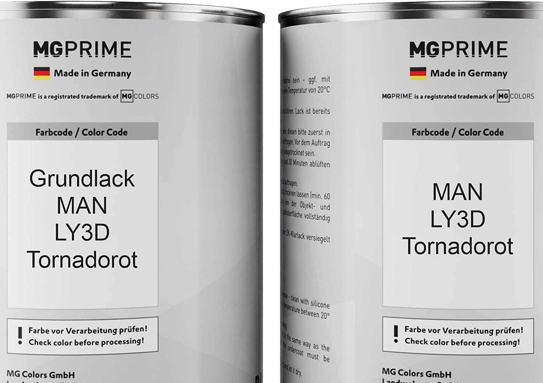 Mg Prime Autolack Set Dose Spritzfertig Für Man Ly3d Tornadorot Grundlack Basislack 2 0 Liter 2000ml Auto