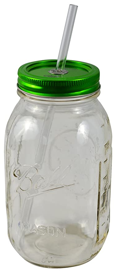 Redneck Guzzler Drinking Sipping Jar 32oz Mason Jar w// Acrylic Reusable Straw
