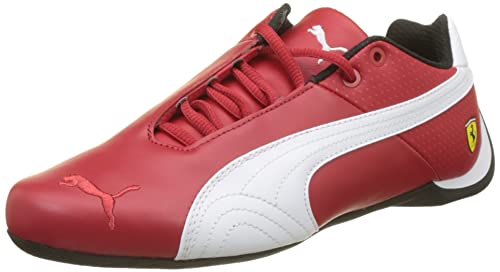db021056a99 Puma Unisex s Sf Future Cat Og Rosso Corsa White and Black Leather  Sneakers-9.5 UK