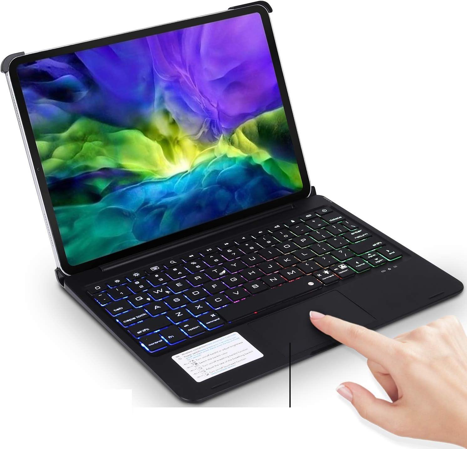iPad Pro 11 Case 2020 with Keyboard & Touchpad,ONHI Backlits Bluetooth Flip Smart Keyboard Case for iPad Pro 1st & 2nd Gen 11
