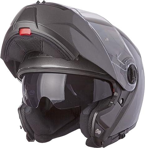 Amazon.com: Casco modular de motocicleta con parasol LS2 ...