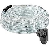 LE 10m LED Lichterschlauch 240 LEDs wasserfest Kaltweiß für Innen Außen Party Weihnachten Dekolicht Kaltweiß
