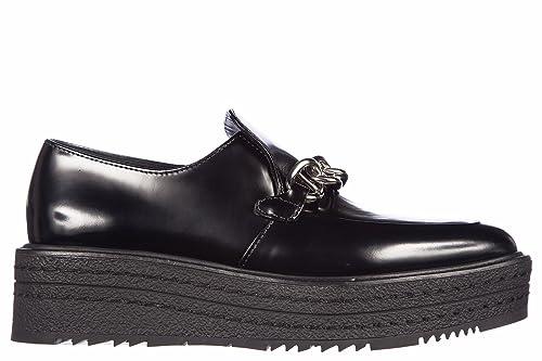 Prada mocasines en piel mujer nuevo spazzolato fume negro EU 36 1D949F P39 F0002: Amazon.es: Zapatos y complementos