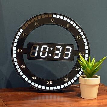 OOFAY-NAO 12 pulgadas Ronda negra Montado en la pared / de escritorio tipo 2
