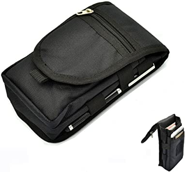 Efanr Cell Phone Belt Clip Holster, Multipurpose Large Capacity Nylon Tactical Carrying Pouch Belt Loop Waist Bag Money Pocket, Universal Comaptible with Samsung HTC LG and More Smartphones