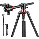 Neewer Camera Tripod Monopod with Rotatable Center Column for Panoramic Shooting - Aluminum Alloy 75 inches/191 Centimeters,