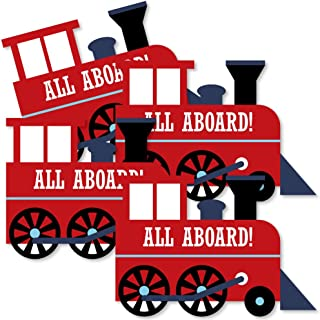 product image for Railroad Party Crossing - Train Decorations DIY Steam Train Birthday Party or Baby Shower Essentials - Set of 20
