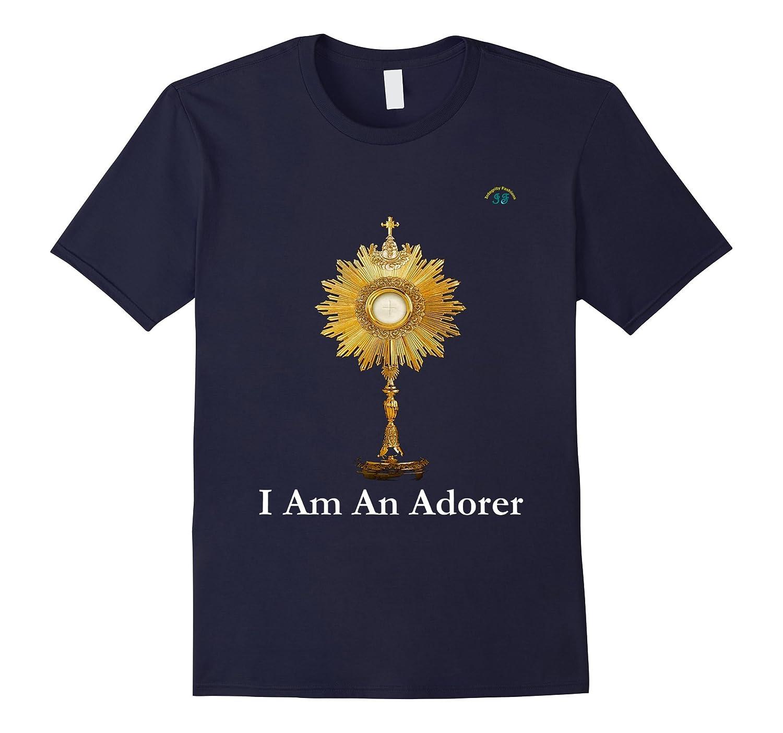 Eucharistic Adoration - Premium Quality -T-Shirt --Art