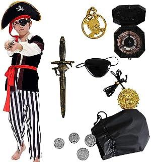 Disfraz Pirata Casaca Niño Color Negro Talla 5-6 Años Tamaño ...