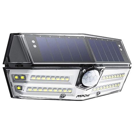 Mpow 24 LED Luz Solar, Sensor de Movimiento Lámpara Solar, Blanca Fría Gran Angular
