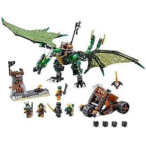 Lego Ninjago 70593 The Green NRG Dragon Building Kit,(567-Pieces)