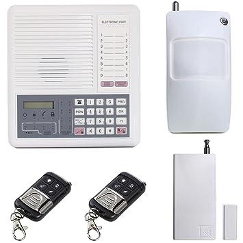 UHPPOTE GSM Ladrón Alarma Seguridad Unidad 4 Alámbrico + 8 ...