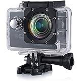 HAMSWAN F60 防水ウェアラブルカメラ・アクションカメラ WiFi 1080P 2インチ170広角ダッシュボード・カム、Gセンサー搭載・ループ録画32GB水中カメラ アウトドアサーフィン/スキー/パラシュート/ダイビングなど用