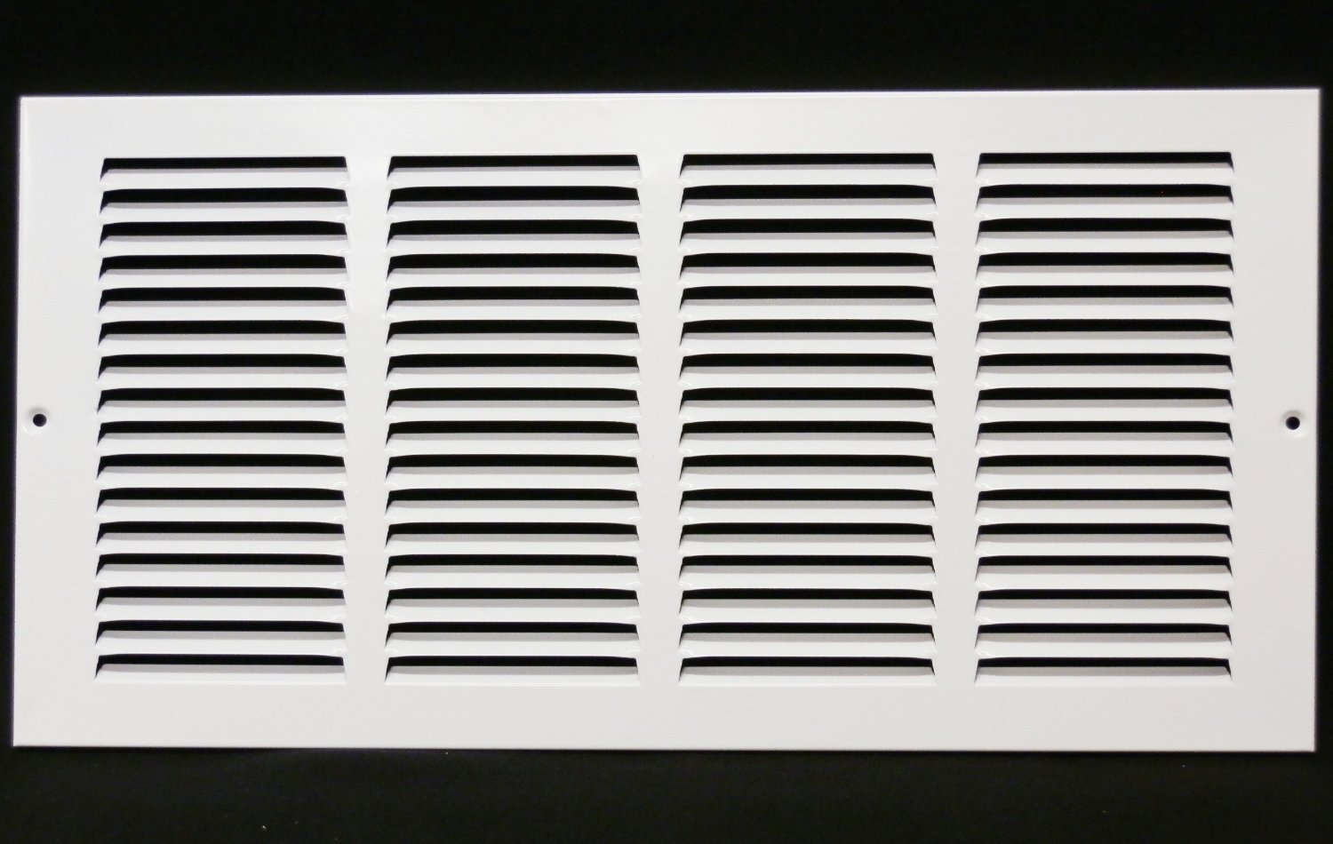 16''w X 6''h Steel Return Air Grilles - Sidewall and Cieling - HVAC DUCT COVER - White [Outer Dimensions: 17.75''w X 7.75''h]