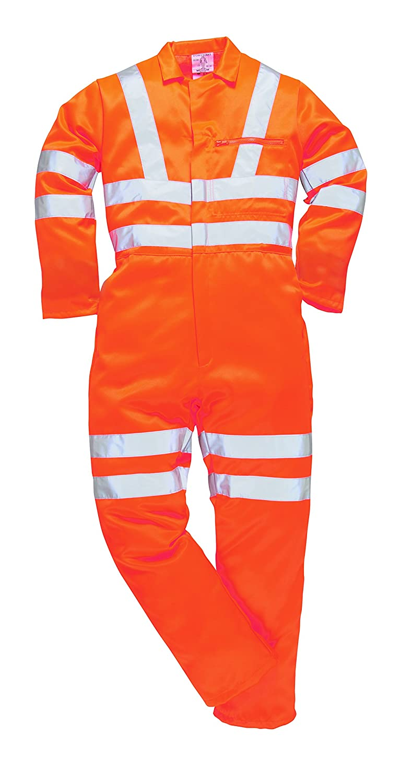 Regular Portwest RT40ORRXXL Series RT40 Hi-Vis Poly-cotton Jacket Orange Size: 2X-Large