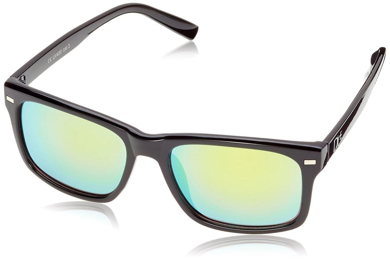 Dice – Gafas de Sol Unisex Shiny Black/Orange Revo Talla:Talla única