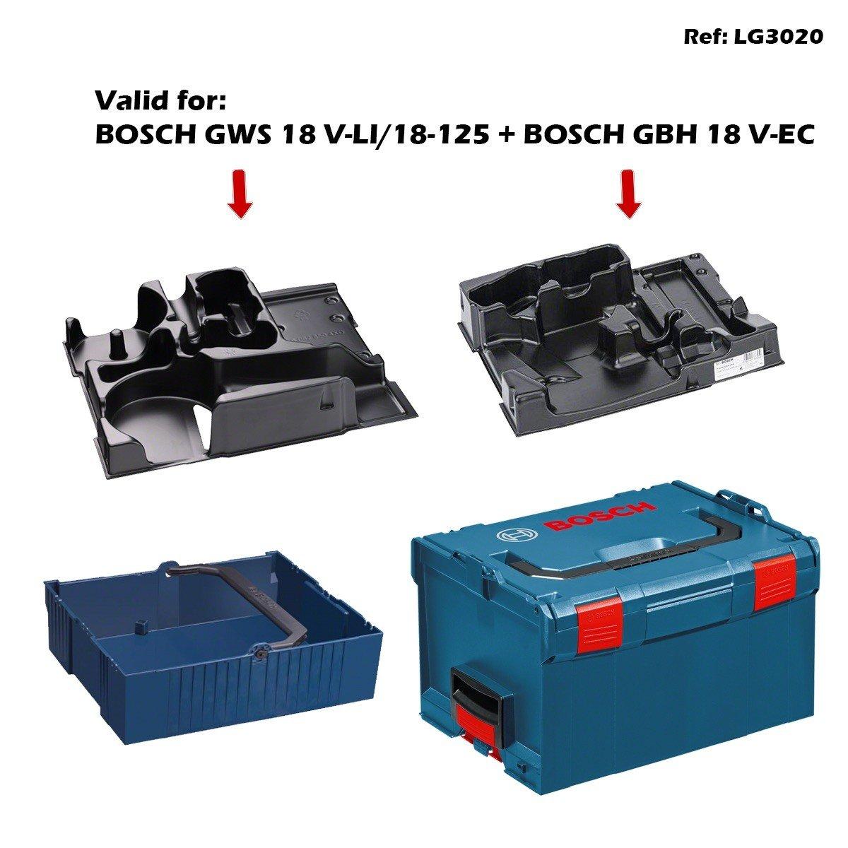BOSCH L-Boxx 238 + Calage GWS 18 V-LI/18-125 + Calage GBH 18 V-EC + Panier TodoTaladros BOSCH