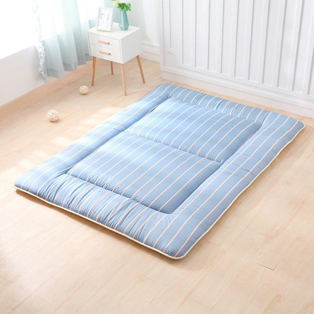 Wanggang Thin Japanese Double Mattress, Tatami Floor Mat Quilted Student Dorm Non-Slip Futon Mattress Topper Foldable Cushion Mats