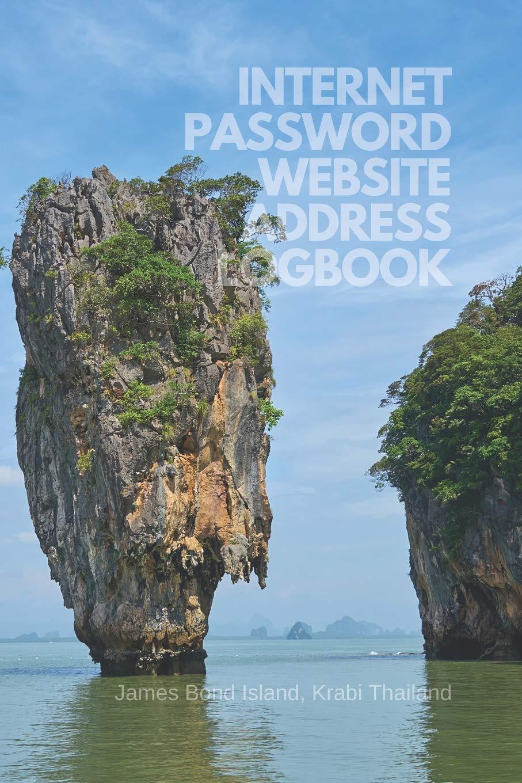 Internet Password Website Address Logbook James Bond Island