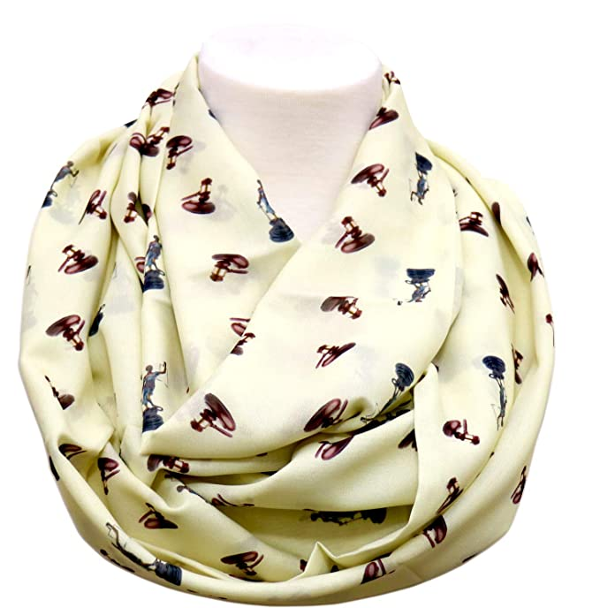Lawyer Infinity Scarf Gift For Attorney Birthday Judge Anniversary Paralegal Ivory