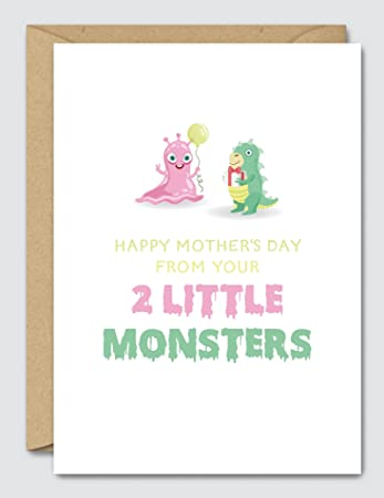 Happy mothers day from your 2 little monsters funny mothers day happy mothers day from your 2 little monsters funny mothers day card m4hsunfo