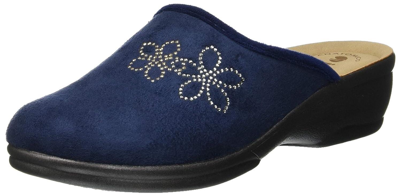 INBLU Betulla, Pantofole Aperte sul Retro Donna Blu (Blu 88_004)