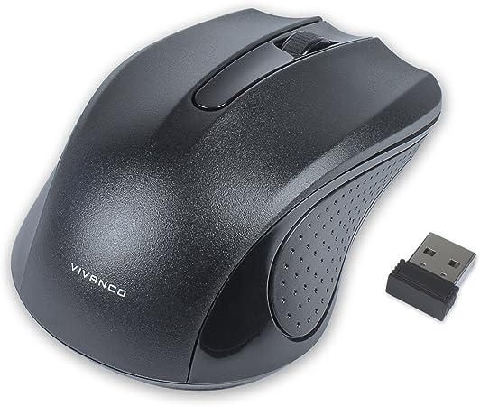 Vivanco 36639 - Ratón Inalámbrico Portatil Bluetooth con Adaptador, 1000 dpi