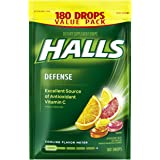 Halls Defense Citrus Vitamin C Drops - 180 Drops (1 bag of 180 drops)