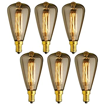 Kjlars 3lcaq54rj E14 6x Incandescence Rétro Edison Ampoules Vintage À 0vNnw8PyOm