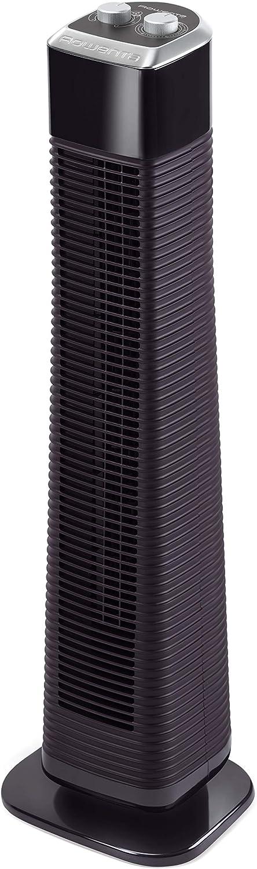 Rowenta Classic Tower VU6140F0 Ventilador de torre de pie de 80 cm con 3 velocidades, oscilación y temporizador hasta 2 horas