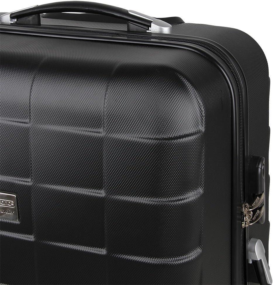Set de 3 valises /étui Rigide avec verrou pour Business Voyage Argent