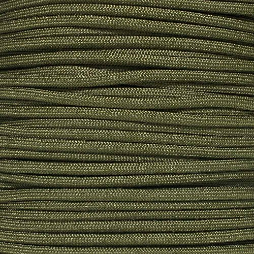 Mil Spec Paracord MIL-C-5040H Type III Built for Survival Titanium Series made with Genuine Authentic 7 Strand 550 LB True 550 Military Specification Strength Nylon Kermantle Tactical Parachute Cord