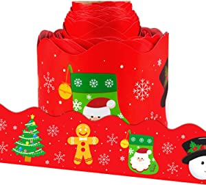OUNENO Chiristmas Bulletin Board Border Trim for Classroom Decoration Scalloped 36 feet