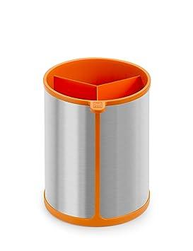 Compra BRA Efficient Bote Giratorio para Utensilios de Cocina, Acero Inoxidable, Naranja, 14.5 x 15 x 18 cm en Amazon.es