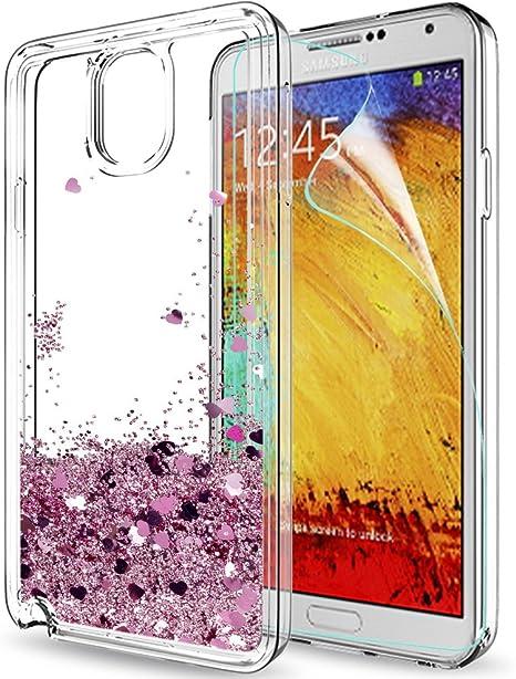 LeYi Funda Samsung Galaxy Note 3 Silicona Purpurina Carcasa con HD ...