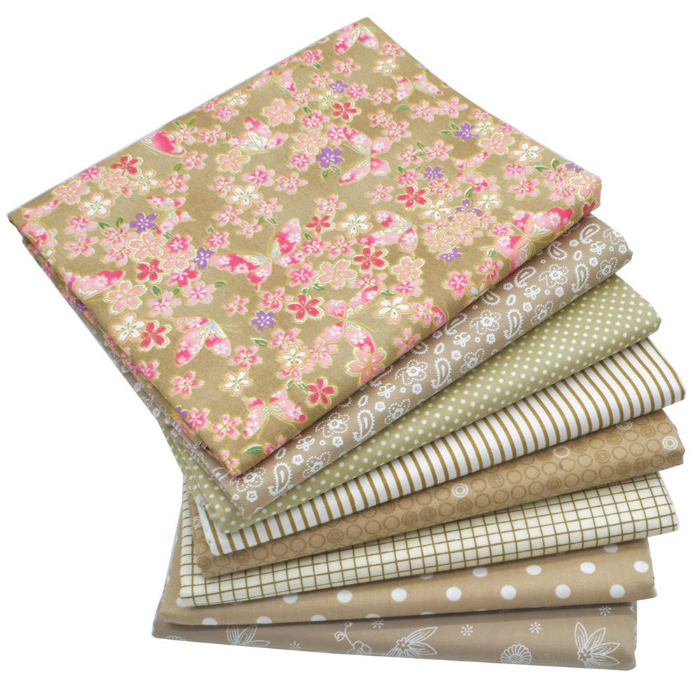 iNee Light Coffee Fat Quarters Fabric Bundles, Quilting Sewing Fabric, 18 x 22 inches,(Light Coffee) by iNee (Image #2)