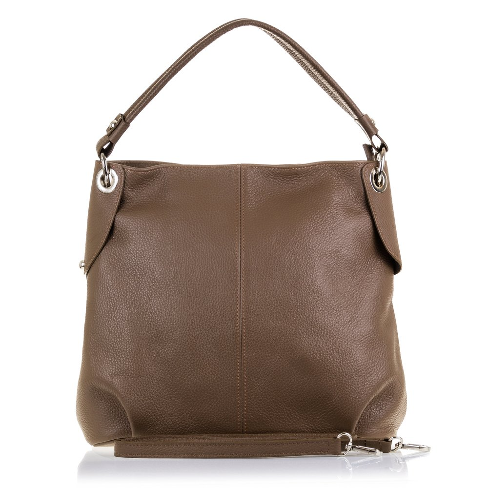 Firenze Artegiani本革の女性用バッグ、ドルラメッセンジャーバッグ仕上げ、37 cm、ブラウン(ブラウン)   B07JKZ5WNJ