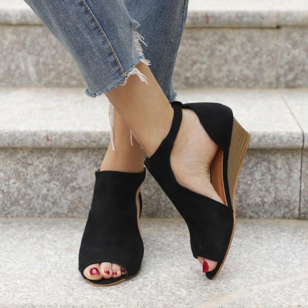 Zapatos de mujer verano, Covermason Sandalias de mujer, punta estrecha, tobillo, tacones altos: Amazon.es: Ropa y accesorios