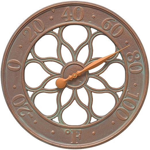 Whitehall Products Medallion Clock, Copper Verdi