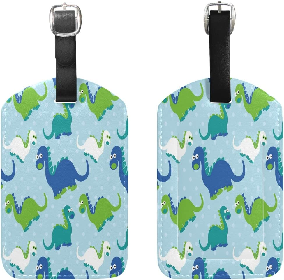 2 Pack Luggage Tags Dinosaur Handbag Tag For Travel Bag Suitcase Accessories