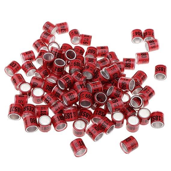 Unbekannt Sourcingmap Fußband-Clip, Aluminium, 7 mm, Mehrfarbig, Blau, 100 Stück rot