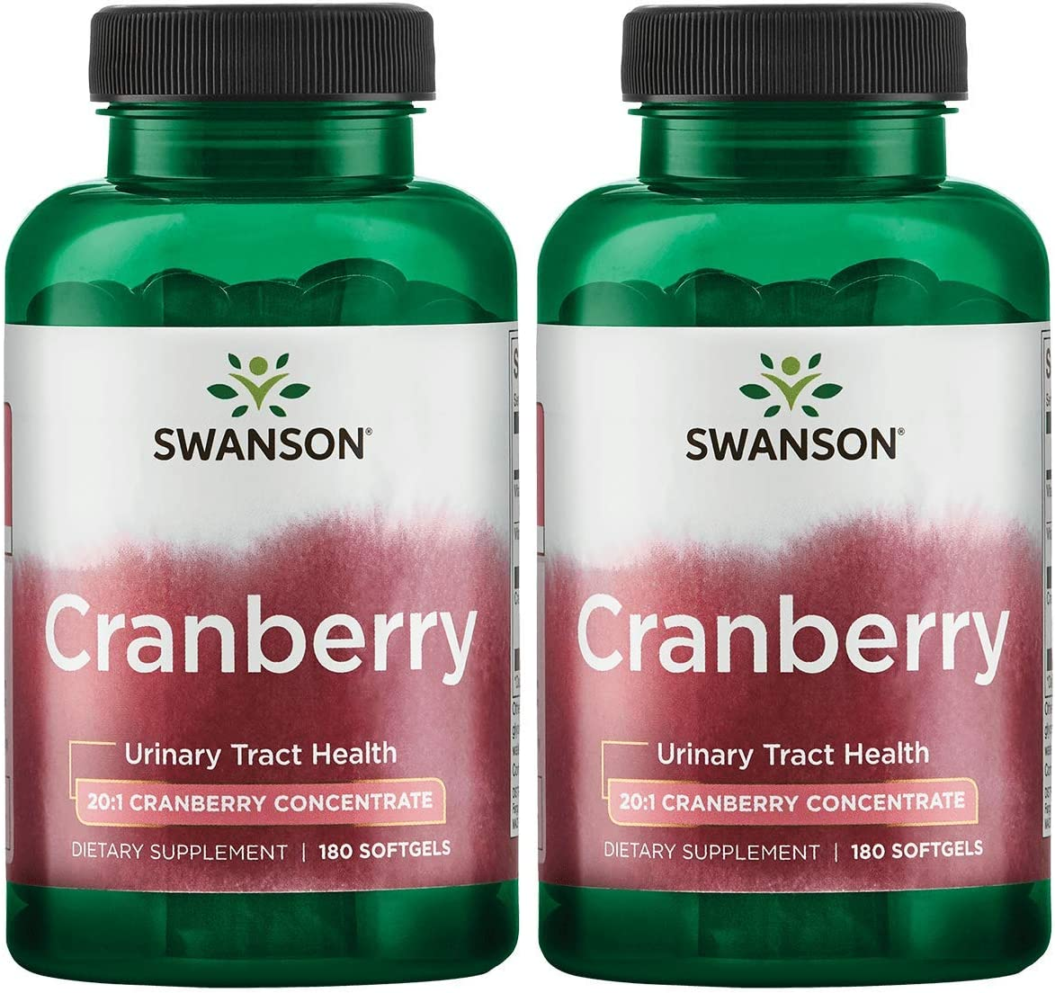 Swanson Cranberry 20 1 Concentrate Urinary Tract Support180 Sgels 2 Pack