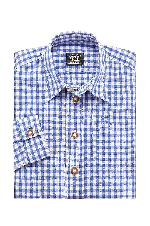 OS-Trachten Jungen Kinderhemd blau kariert Henri 140679